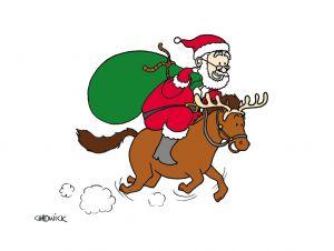 Santa Riding